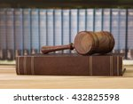 judges gavel on law books with