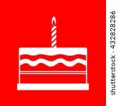 birthday cake sign | Shutterstock . vector #432828286