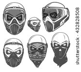 set of paintball skull mask... | Shutterstock .eps vector #432828508