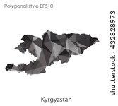 kyrgyzstan map in geometric...   Shutterstock .eps vector #432828973