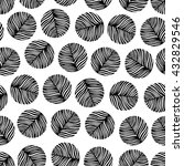 trendy seamless pattern with... | Shutterstock .eps vector #432829546