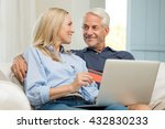 happy senior couple making an... | Shutterstock . vector #432830233