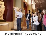 pupils and teacher on school...   Shutterstock . vector #432834346