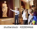 pupils and teacher on school...   Shutterstock . vector #432834466