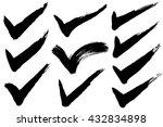 check mark.  hand drawn... | Shutterstock .eps vector #432834898