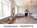 luxury light interior of... | Shutterstock . vector #432839476