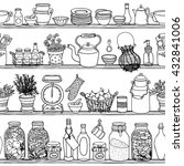 Rustic Kitchen Vector Seamless...