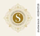 vector luxury elegant frame... | Shutterstock .eps vector #432842518