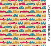 retro cars seamless pattern on... | Shutterstock .eps vector #432849604