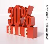 3d Render  Red 30 Percent ...