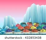 illustration of arctic... | Shutterstock .eps vector #432853438
