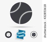 baseball ball sign icon. sport... | Shutterstock .eps vector #432853618