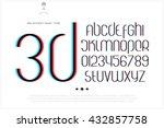round 3d effect alphabet... | Shutterstock .eps vector #432857758
