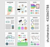 infographics set in flat style... | Shutterstock .eps vector #432860788