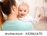 mother and her little baby at... | Shutterstock . vector #432861670