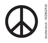peace vector icon | Shutterstock .eps vector #432862918