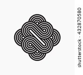 intertwined symbol  stripy line ... | Shutterstock .eps vector #432870580