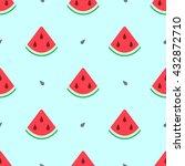 watermelon summer seamless... | Shutterstock .eps vector #432872710