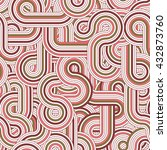 round lines seamless pattern.... | Shutterstock .eps vector #432873760
