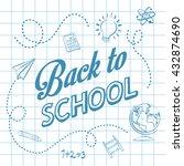 back to school design. study... | Shutterstock .eps vector #432874690