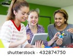 students working together with...   Shutterstock . vector #432874750