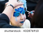 christmas face painting ... | Shutterstock . vector #432876910