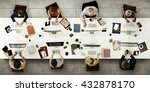 business team meeting... | Shutterstock . vector #432878170
