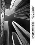 modern architecture in b   w | Shutterstock . vector #4328809
