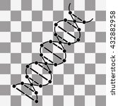 vector image dna drawing on...
