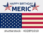 fourth of july. independence... | Shutterstock .eps vector #432891010