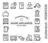 set of 16  house appliances...