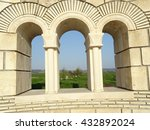 old stone architecture arches | Shutterstock . vector #432892024