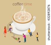 coffee time or coffee break.... | Shutterstock .eps vector #432892876