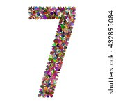 Number Seven Made Of Flowers....
