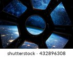 Earth And Star In Spaceship...
