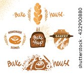 logo for fresh bakery products... | Shutterstock . vector #432900880