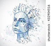 3d vector low poly portrait of... | Shutterstock .eps vector #432904516