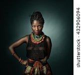 african model looking. green... | Shutterstock . vector #432906094