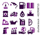 gasoline  gas  oil icon set | Shutterstock .eps vector #432908713