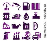 gasoline  gas  oil icon set | Shutterstock .eps vector #432908713