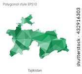 tajikistan map in geometric... | Shutterstock .eps vector #432916303
