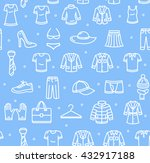 shopping background pattern on... | Shutterstock . vector #432917188