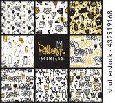 big set  seamless patterns ...   Shutterstock .eps vector #432919168