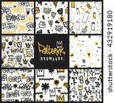 big set  seamless patterns ... | Shutterstock .eps vector #432919180