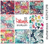Big Set  Seamless Patterns ...