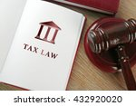 Open Book With Words Tax Law