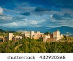 fortress of alhambra. granada ... | Shutterstock . vector #432920368