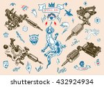 set of different style... | Shutterstock .eps vector #432924934