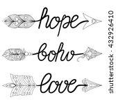 boho  love  hope arrows. hand... | Shutterstock .eps vector #432926410