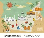 uae travel concept map with... | Shutterstock . vector #432929770